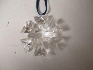 """Tiny 1 3/4"""" Swarovski Crystal Snowflake Star Christmas Ornament #4"""
