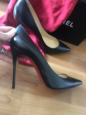 Auth Gently Used Christian Louboutin Black Pigalle Pump Heel Size EU 40 - 100mm