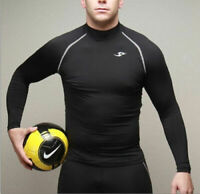 Mens Compression Base Layer Long Sleeve Under Shirt Skin Tight Top Body Armour