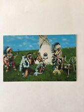 The Dual Dance Oto-Ponc Indian Dancers of Oklahoma Unposted Postcard