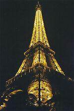 Postcard Set of 10 Eiffel Tower Paris France 2010 Night View Color Post Card
