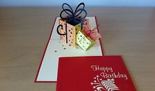 3D Handmade Pop Up Greating Card - A Magic Box for Birthday presents
