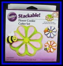 NEW! Wilton***STACKABLE FLOWER Cookie Cutter Set*** NIP #1288