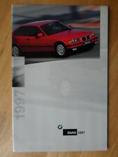 BMW RANGE 1996-97 UK Mkt Sales Brochure - 3 5 7 8 Series M3 Mclaren K1200 RS Z3