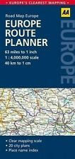 Europe Route Planner: AA Road Map Europe by AA Publishing (Sheet map, folded,...