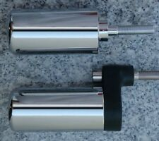 2007-2008 Kawasaki Ninja ZX6 ZX6R CHROME NO-CUT FRAME SLIDERS