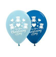 Party Supplies Baby Blue Boys Christening Religious 30cm Balloons Pk10