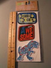 New..3 Pc. Iron-On Dinosaur Patch