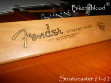 Fender stratocaster waterslide decal 61-62 (Metallic Gold Logo)