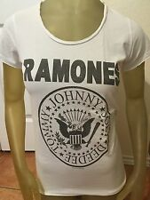 Amplified Ramones Women's T-shirt In White Small and Large