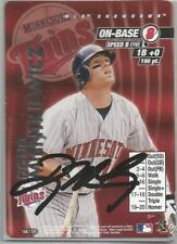 Minnesota Twins DOUG MIENTKIEWICZ autographed 2001 MLB Showdown
