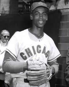 "Ernie Banks- 8"" x 10"" Photo- 1960- Cubs Baseball- Doubleday Field- HOF Game"