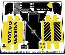Precut Replica Sticker voor Lego Set 42030 - Volvo L350F Wheel Loader (2014)