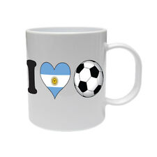 I LOVE FOOTBALL - Argentina / Argentinian / Sport / Novelty Themed Ceramic Mug