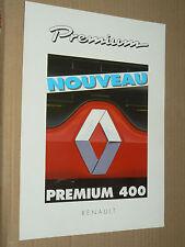 Prospectus Camion RENAULT PREMIUM 400  1998  truck catalogue brochure RVI