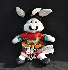 Bugs Bunny Scottish Plush Warner Bros Keyring 1999 Vintage