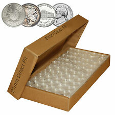 NICKEL Direct-Fit Airtight A21 Coin Capsule Holders For NICKELS (QTY 50) w/BOX