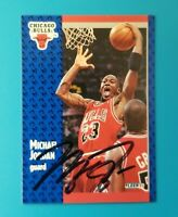 MICHAEL JORDAN AUTHENTIC SIGNED AUTOGRAPHED 1990 FLEER #29 CARD w COA mj