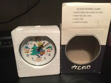 VINTAGE RARE HERO 1950-60's? ANIMATED ALARM CLOCK Christmas Drummer Boy #8324