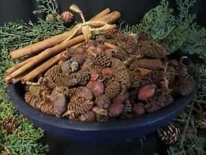 Natural Bowl Filler  Pinecone Rose Hip Cinnamon Sticks Large 1 1/2 lb
