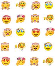 Emoji Hippies / Flower Power Waterslide Nail Decals/Nail art
