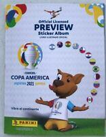ALBUM COPA AMERICA 2021 EMPTY, ALL 400 STICKERS + 2 PACKETS
