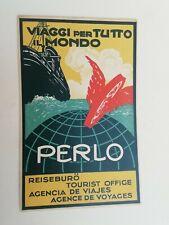 Cartolina Pubblicitaria Agenzia Viaggi Perlo Torino Futurismo