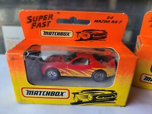 MATCHBOX SUPERFAST 1993  - MAZDA RX7 [RED] CAR NEAR MINT BOX OK COMBINED POSTAGE
