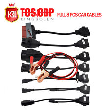 Full Set 8 Car for CDP TCS Pro Diagnostic Connector Cables For AUTOCOM CDP