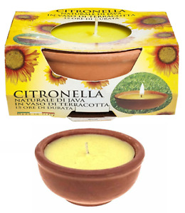 Citronella Candle Garden Fly Insect Mosquito Repellent Terracotta Pot Outdoor
