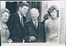 1963 Photo Heinrich Luebke President Kennedy Eunice Shriver Politics German