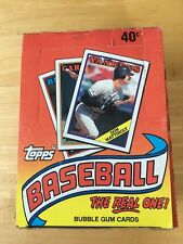 1988 Topps Baseball Wax Box Unopened Box 36 Count Packs 15 Cards Per Pack New