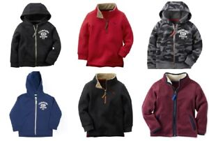 NWT Boys Carters Fleece Zip-up Hoodie Jackets & Pullovers Sizes 4 5