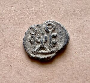 Byzantine lead seal of Theodoros chartoularios (6th century). A beautiful piece!