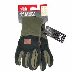 New The North Face Men's Fleece Patch Glove Green Black U|R Powered Touchscreen