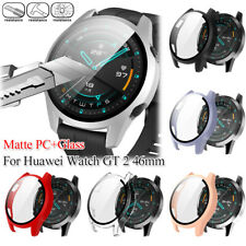 Case Screen Protector Full Cover 9H Tempered Glass For Huawei Watch GT 2 46MM