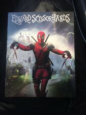 NEW  Edward Scissorhands Blu-Ray Walmart Exclusive Deadpool Cover Movie Comedy