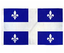 Large 3 x 5ft Quebec Province Flag Quebec Banner Outdoor Indoor