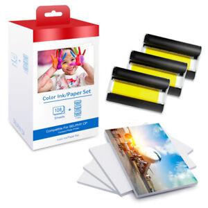 Patrone & Fotopapier Kompatibel für Canon KP-108IN Selphy CP 1300 1200 910 1000