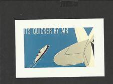 Nostalgia Postcard Airmail Envelope design 1930