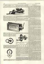 1889 Brunton Treviri TE comò Kaisers contatori La linotype