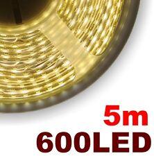 818/5# Ruban  LED blanc chaud  5m 600LED -- type LED 3528