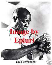 Louis Louie Armstrong 8x10 B&W Photo Jazz Great