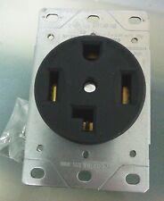 Dryer Outlet Receptacle 30A 125/250V Black 4 Wire Flush Mount 30 Amp