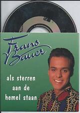 FRANS BAUER - als sterren aan de hemel staan CD SINGLE 3TR 1994 HOLLAND