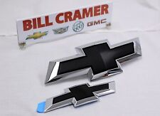 2015-2017 Chevrolet Impala GM OEM Black Bowtie Emblem w/ Chrome Surround NEW