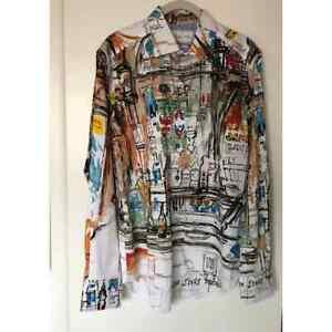 Robert Graham Dublin Bar LeRoy Neiman Capsule Collection Classic Fit Shirt Small