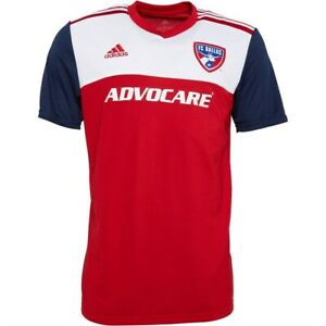 adidas FC Dallas MLS Soccer home jersey top climalite technology S rrp £69.99