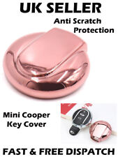 Rose Gold Tone Remote Key Case Holder Shell Protect Cover for BMW Mini Cooper