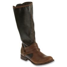 NEW $260 Catepillar Sabrina Brown Leather Canvas Tall Riding Boots 8.5 M NIB